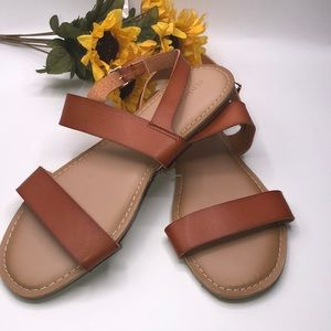 Old Navy Faux- Leather Double Strap Ember Sandal